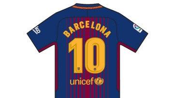El dorso de la camiseta del Barcelona por los atentados