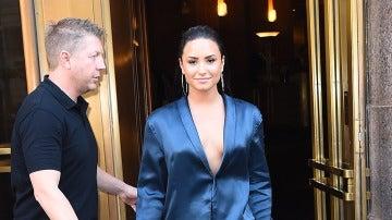 Demi Lovato, con un look muy pijamero