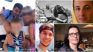 Las fotografías de algunos de los fallecidos