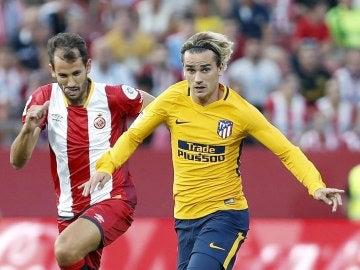 Griezmann, durante el partido contra el Girona