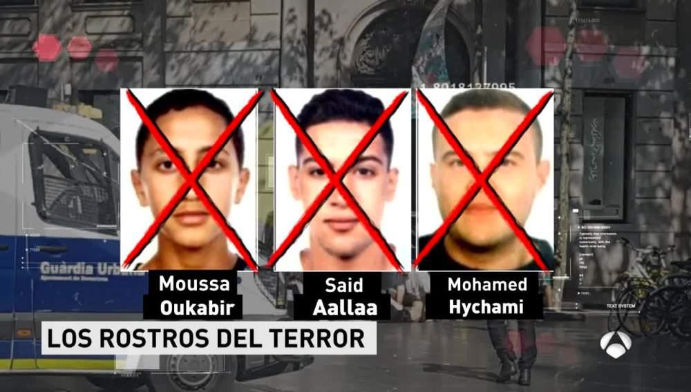 Los rostros de los terroristas abatidos en Cambrils