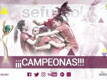 La sub-19 femenina, campeona de Europa