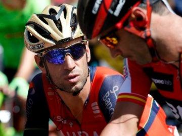 Vincenzo Nibali, durante una etapa de la Vuelta a España
