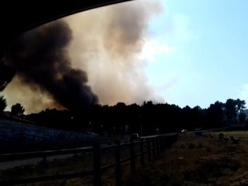 Activado el nivel 2 en Celanova por la proximidad de las llamas a las viviendas