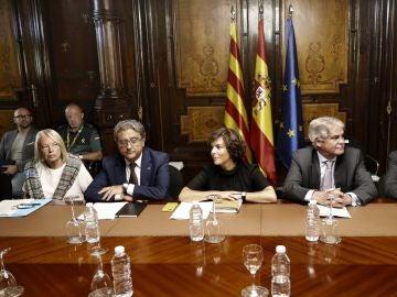 Reunión tras los atentados de Cataluña