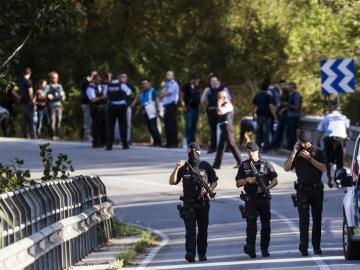 Operativo de los Mossos en Subirats (Barcelona) para detener a Younes Abouyaaqoub, autor del atentado de Barcelona