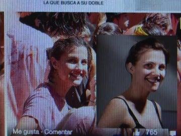 Una madrileña busca a una mujer idéntica a ella que protagonizó una foto de la tomatina