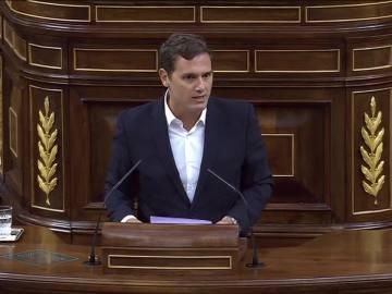 Albert Rivera, en el Congreso de los Diputados