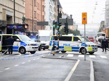 Dispositivo policial en Estocolmo