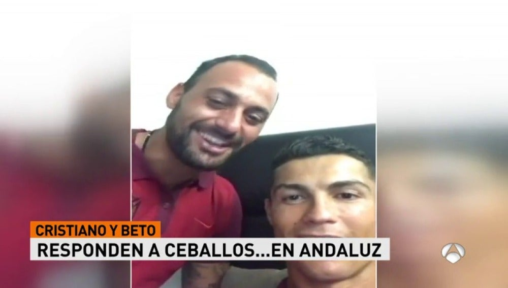 Cristiano y Beto responden en un directo a dos jugadores del Madrid
