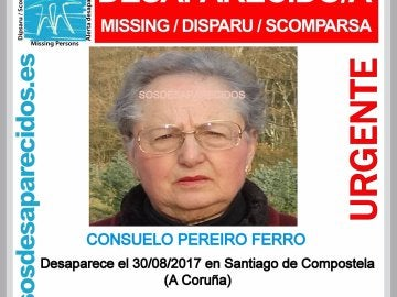 Consuelo Pereiro Ferro, de 82 años, desaparecida