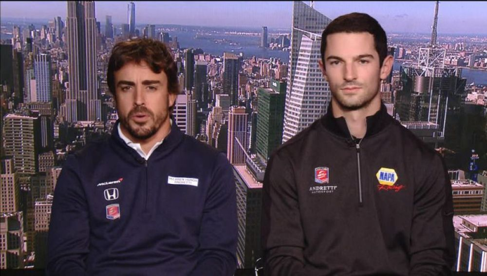 Fernando Alonso y Alexander Rossi esta temporada en la IndyCar
