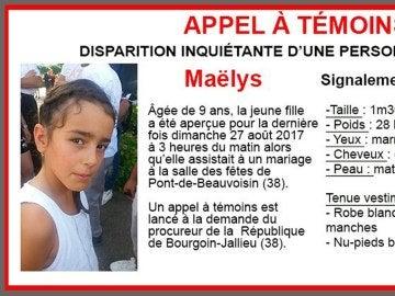 Maëlys De Araujo, la niña de 9 años desaparecida en Francia