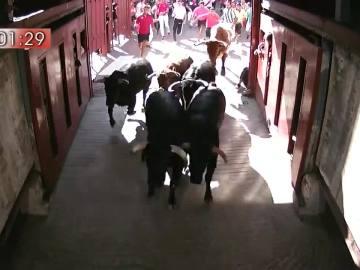 Sexto encierro de las fiestas de San Sebastián de los Reyes 2017, con toros de Guadalmena.