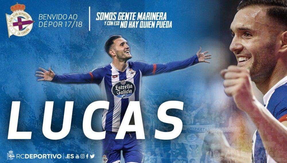 Lucas Pérez regresa al Deportivo de la Coruña.