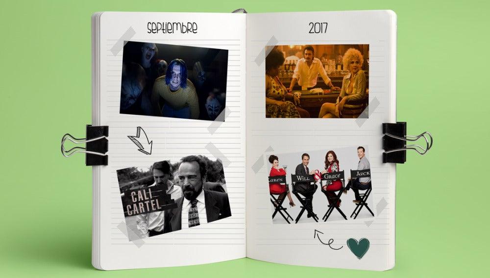 Calendario de series que llegan en septiembre