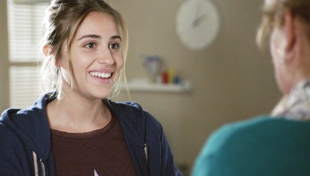 Raquel Aragón es Daniela, la joven periodista