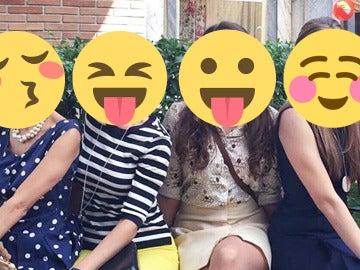 En la 'Plaza de los Frutos' ya  pasean las nuevas chicas de 'Amar es para siempre'