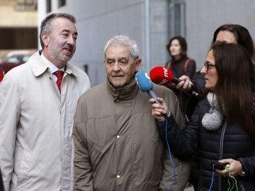 Riopedre, a su llegada al juzgado de Instrucción número 4 de Oviedo.