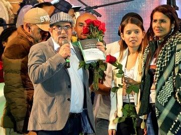 Rodrigo 'Timochenko' Londono en la presentación oficial de las FARC como partido político