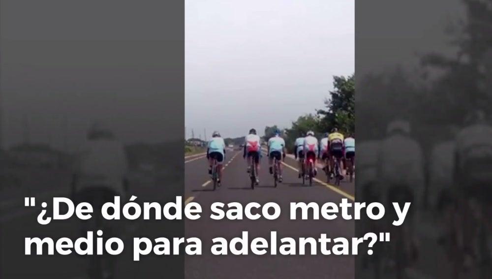 El vídeo que indigna a conductores y ciclistas