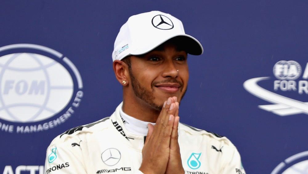Lewis Hamilton, feliz en Monza