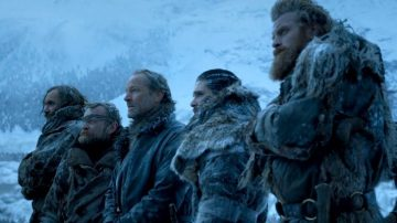 'El Perro', Beric, Jorah, Jon y Tormund en 'Juego de Tronos'