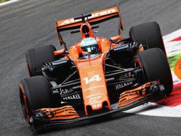 Fernando Alonso, durante la carrera