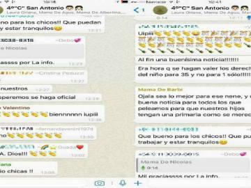 Grupo de Whatsapp de madres contra un niño con Asperger