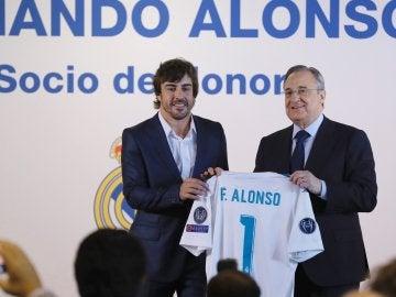 Fernando Alonso, socio de honor del Real Madrid
