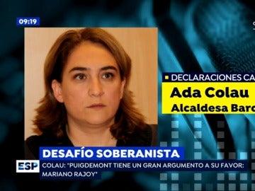 Colau reclama a Rajoy no judicializar el 1-O y propuestas en positivo