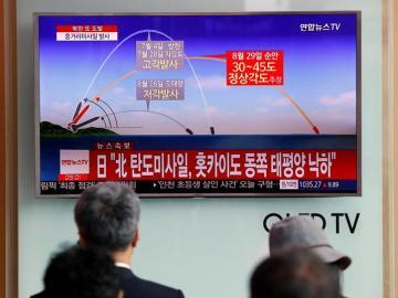 Lanzamiento de un misil por parte de Corea del Norte