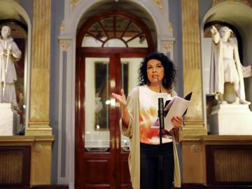 La portavoz adjunta de Podemos en el Senado, Maribel Mora