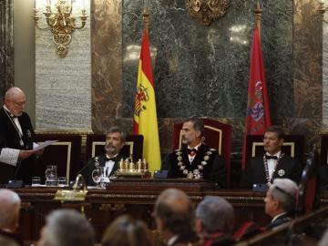 José Manuel Maza pronuncia su discurso en la apertura del año judicial