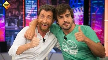 Pablo Motos y Fernando Alonso