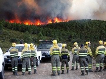 Un incendio originado en Portugal se acerca a la localidad de Latedo (Zamora)