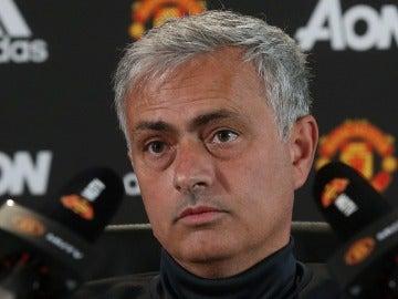 El entrenador del United, Jose Mourinho.