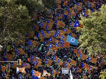 Manifestación de la Diada catalana 2017