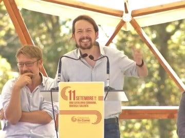 """Iglesias pide una alianza con el PSOE y ERC para """"echar"""" al PP y solucionar el problema catalán"""