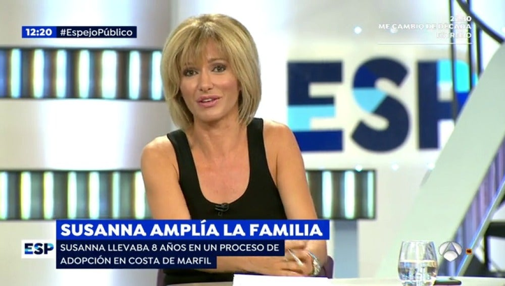 Antena 3 tv susanna griso ampl a la familia for Antena 3 espejo publico hoy