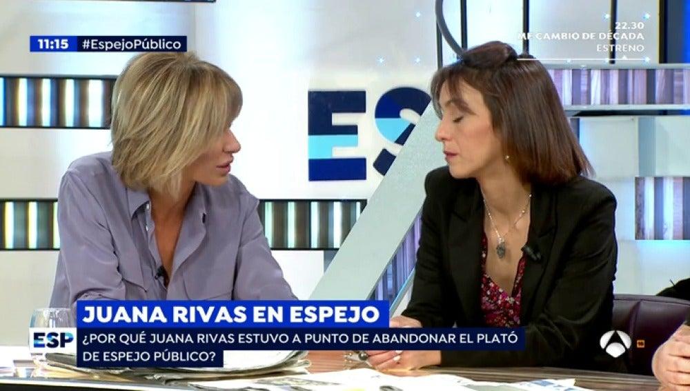Antena 3 tv por qu juana rivas estuvo a punto de abandonar el plat de 39 espejo p blico 39 - Antena 3 espejo publico ...