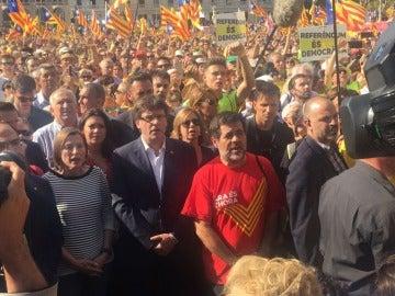 Carles Puigdemont, en la manifestación de la Diada