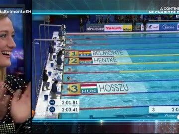 """Mireia Belmonte rememora su oro mundial en 200 mariposa: """"Los últimos metros son agónicos"""""""