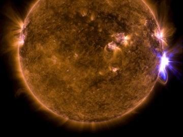 Erupciones solares registradas por la NASA