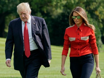 Melania Trump regresa de Camp Davis