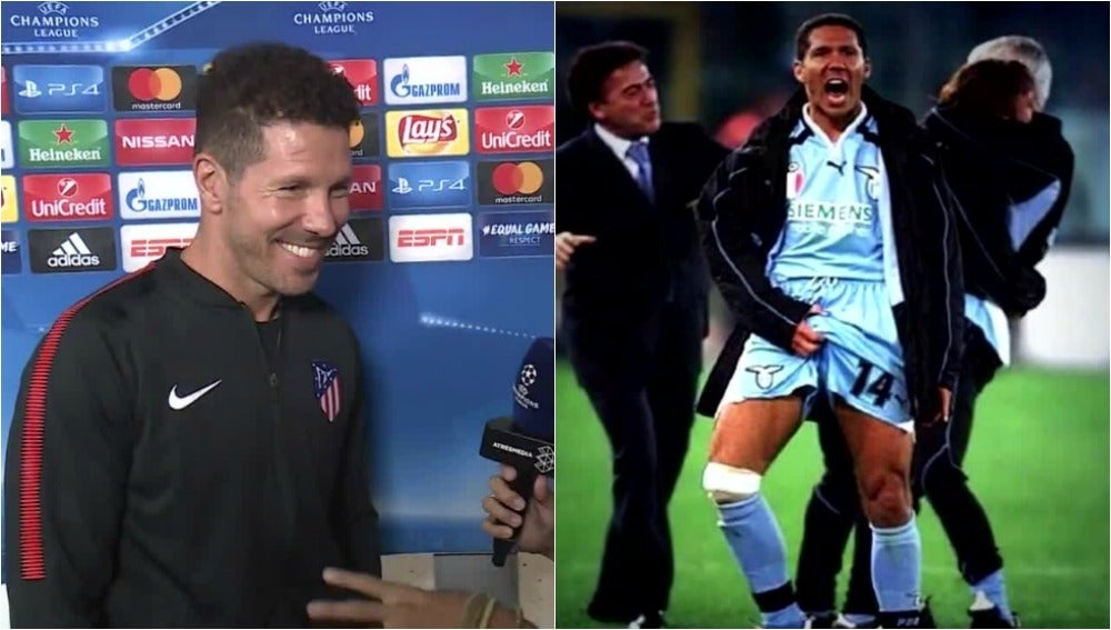 Simeone, preguntado por su gesto cuando jugó en la Lazio