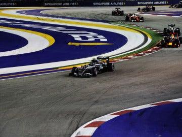 Imagen de la carrera del GP de Singapur de 2016