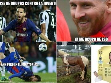 Los 'memes' del Barcelona-Juventus