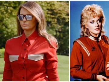 """Melania Trump """"copia"""" el estilo de la serie 'V'"""