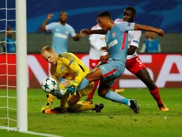 Gol del Mónaco ante el Leipzig